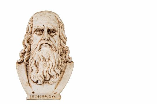 Leonardo da Vinci frontal white background