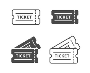 Ticket icon set