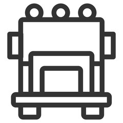 Bus vector icon, Modern and Line icon Transport and Vehicle