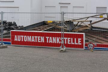 Demolition of a gas station
