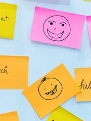 Lachen, Symbol, Skizze, Arbeit, Freude