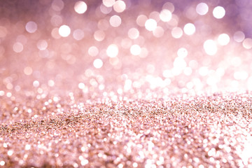 Texture background abstract pink gold Glitter Sparkling  and elegant for Christmas