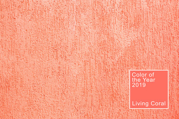 Texture of coral plaster bark beetle. Living coral. Color of the 2019.