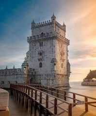 Beautiful view of Belem tower