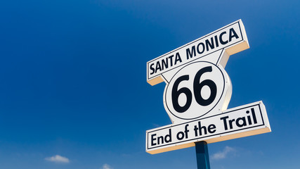 Keuken foto achterwand Route 66 Santa Monica, end of the trail