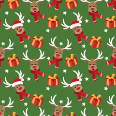 Christmas holiday season seamless pattern.