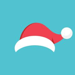 Cartoon Santa hat. EPS 10 vector