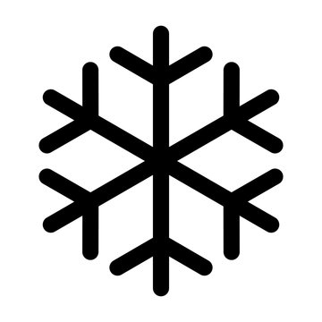 Snowflake made of black lines one on a white background. Vector illustration.