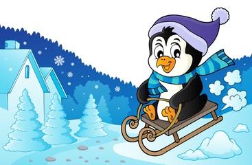 Sledging penguin theme image 3