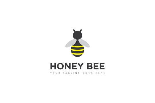 bee vector. bee cartoon. bee logo design Template. Vector Illustrator Eps.10