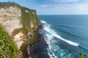 Uluwatu Temple cliff faced rugged coast