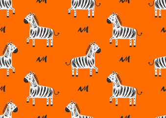 children's seamless pattern with zebras