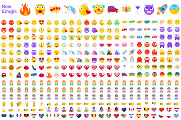 Big Set of Modern Emojis