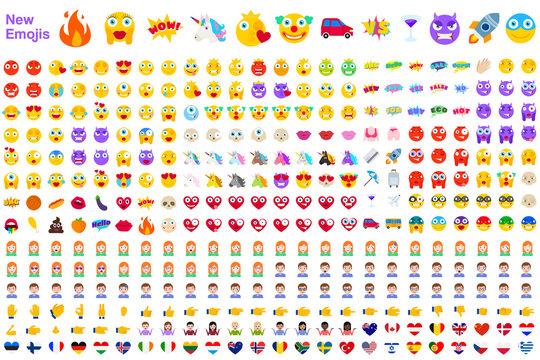 Big Set of Modern Emojis