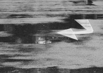 wet asphalt road texture