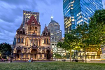Trinity Church in Boston at Night