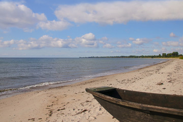 Ystad, Sweden, Mossby Beach, Boat