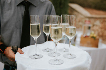 champaign on a wedding