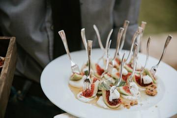 Canapes at a wedding