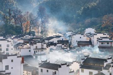wuyuan shicheng village in morning