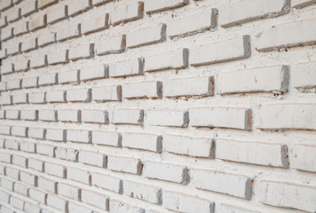 Details of white brick wall