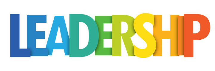 LEADERSHIP colorful typographic banner