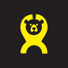 Funny bear for your logo
