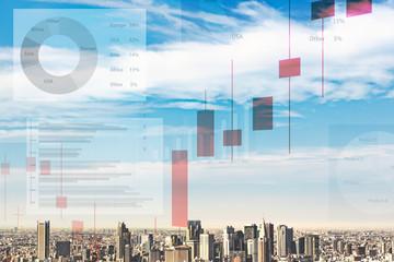 都市とチャート