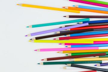 colorful pencils crayons
