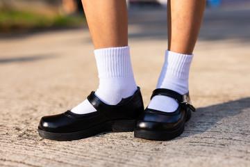 Black student shoes