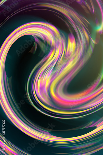 Wallpaper with liquid shape and colorful gradient. Trendy gradient holographic wallpaper. Abstract wallpaper with colorful gradient.