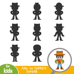 Find the correct shadow, game for children, Sheriff