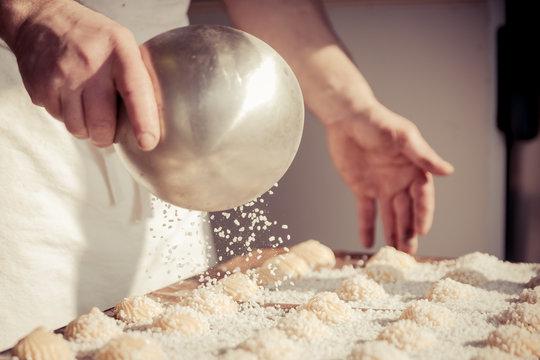 Fabrication des chouquettes