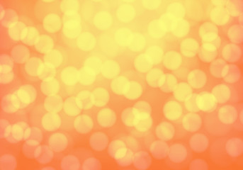 Abstract yellow orange bokeh blur light background luxury vector illustration.
