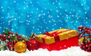 Gift and Christmas ball