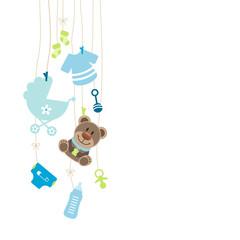 Hanging Baby Symbols Boy Teddy
