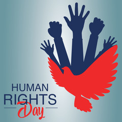 Human rights day concept