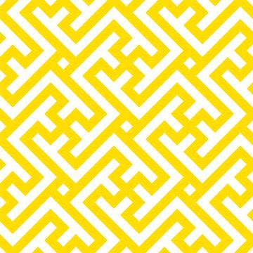 Seamless geometric pattern. Vector linear yellow pattern with swastika.