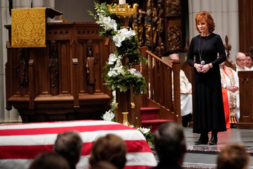 Funeral service for the former U.S. President George H.W. Bush in Houston, Texas