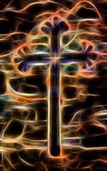 abstract cross on a dark background