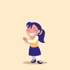 cute little girl avatar character