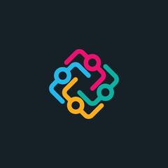 People vector logo