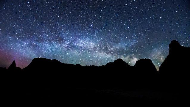 Milky Way Rising Over Badlands National Park