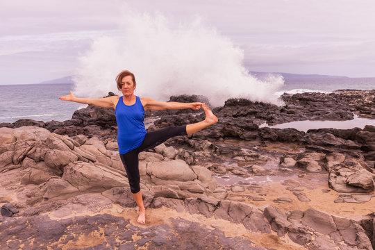Practicing Yoga on the Maui Coast