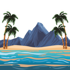 Beach and island scenery