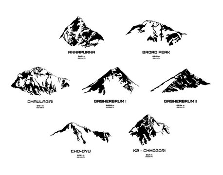 Set of mountains - eight thousanders I