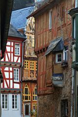 Gasse mit Fachwerkhäusern in Limburg, Hessen