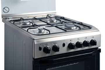 Gas stove on a white background
