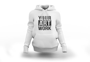 White Hooded Sweatshirt Mockup