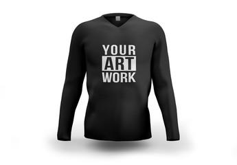 Black Longsleeve Shirt Mockup
